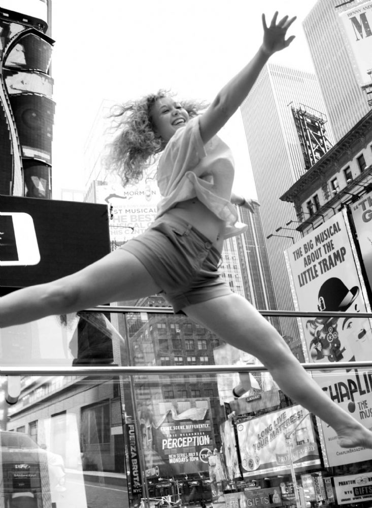 New York City.  Dancer in Times Square